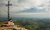 Vista dalla cima di un monte